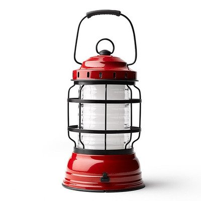 Barebones Living Forest Lantern | Red - Rechargeable Outdoor Lantern with LED Lights