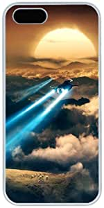 iPhone 5 5S Cases Hard Shell White Cover Skin Cases, iPhone 5 5S Case Science Fiction Design World