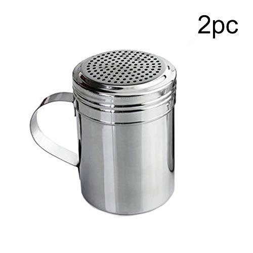 (Salt Pigs - 1 2pcs Shaker Stainless Steel Spice Bottles Barbecue Powder Dispenser Dredge Pepper Salt Sugar - Pigs Salt Servers Spoon Cellars Salt Pigs Cellars Servers Shaker Sugar Spice Pep)