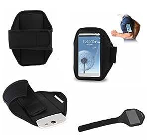 DFV mobile - Funda brazalete deportivo de neopreno premium para > samsung galaxy ace 3 s7275r, color negro