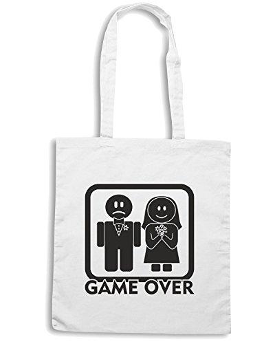 T-Shirtshock - Bolsa para la compra T0004 GAME OVER Blanco
