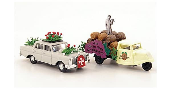 Set camion de mudanza Nr.1: 220, Maltés + Tres ruedas, , Modelo de Auto, modello completo, Busch 1:87: Busch: Amazon.es: Juguetes y juegos