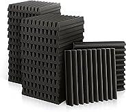 """Acoustic Panels, 2"""" X 12"""" X 12"""" Acoustic Foam Panels, Studio Wedge Tiles, Sound Panels wedges S"""