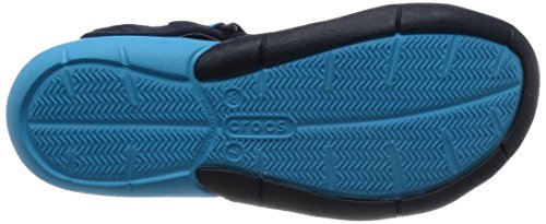 Crocs Swftwtrmshsndlw, Sandalias con Cuña Para Mujer Blu (Navy)