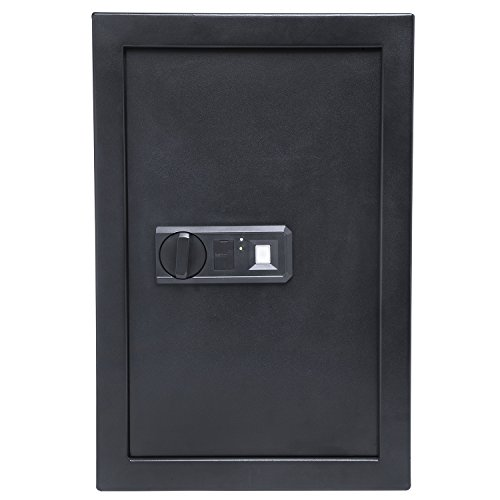 "Ivation Wall Safe, 20.6"" x 13.8"" x 3.7"" Home Security Box, Backup Keys & Mounting Kit (Biometric) by Ivation"