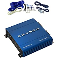 Crunch PowerDriveX 1000W 2 Channel Blue A/B Car Amplifier + 4-Gauge Wiring Kit