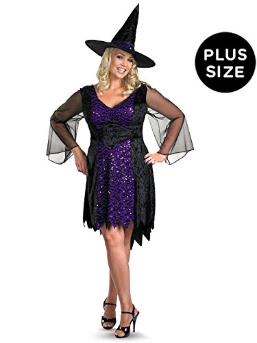 Disguise Women's My Brilliantly Bewitched Women Plus Size Costume, Black, XX-Large]()