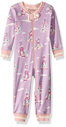 (Hatley Baby Girls Organic Cotton Sleepers, Castles in The Sky, 0-3 Months )
