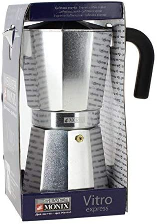 Monix M620012 Cafetera, Aluminio, Plata, 12 Tazas: Amazon.es: Hogar