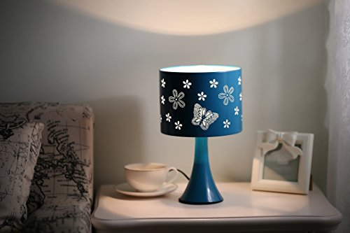 (turquoise) (Butterflies Touch Lamp)