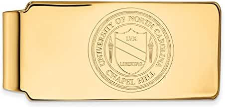 14k Yellow Gold LogoArt Official Licensed Collegiate University of North Carolina (UNC) Money Clip Crest