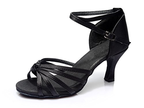 Vesi Knot Shoes Black Dance Sandals 6 Women's 5UK Ballroom Latin rqr0H