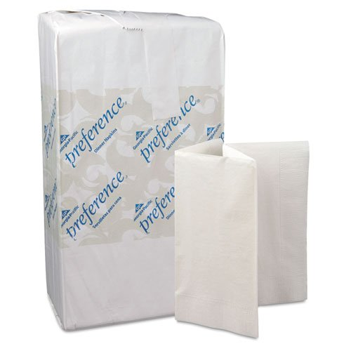 Georgia Pacific Professional Dinner Napkins, 1/8-Fold, 3-Ply, 17 x 17, White, 200/Pack - Includes ten packs of 200 each.