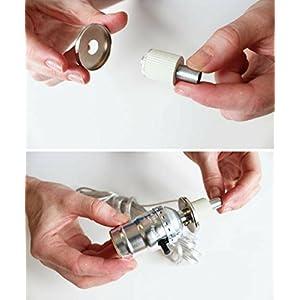 DIY Bottle Lamp Kit – Make a Wine Bottle Lamp, Water Bottle Lamp or Liquor Bottle Lamp or Any Bottle Lamps with a Lamp Kit for Liquor Bottle Make-a-Lamp Kit (Silver Finish with Silver Cord – 2 Pack)