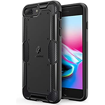 iPhone 8 Plus Case, iPhone 7 Plus Case, Anker KARAPAX Shield Case [Support Wireless Charging] [Thin Slim Fit] [Anti Scratch] Soft TPU With Carbon Texture and Good Grip for iPhone 8 Plus - Black