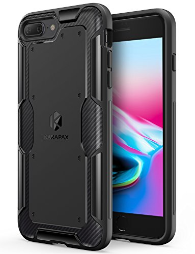 Price comparison product image iPhone 8 Plus Case,  iPhone 7 Plus Case,  Anker KARAPAX Shield Case [Support Wireless Charging] [Thin Slim Fit] [Anti Scratch] Soft TPU With Carbon Texture and Good Grip for iPhone 8 Plus - Black