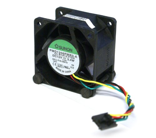 San Ace 60 9G0612P1M031 Computer Case Cooling Fan and Shroud Assembly Or Compatible Fan, For The Dell Optiplex GX620, 745, 755, and SX280 Ultra Small Form Factor (USFF) Systems, 12Volts~0.35Amps, 4-Pin Connector, 60mm x 60mm x 38mm, Compatible Dell Part Numbers: U8679, U1295, JT782, KR024, Compatible Sunon Part Number: PMD1206PMB3-A from SanAce40