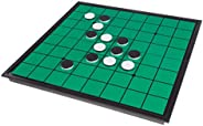 Hey! Play! Go Reverse – Magnetic Travel Classic Board Game with 64 Reversiblepiece & Folding Board – Skill & Strategy for Ch