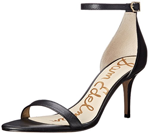 Sam Edelman Women's Patti Dress Sandal, Black Leather, 8 M US ()
