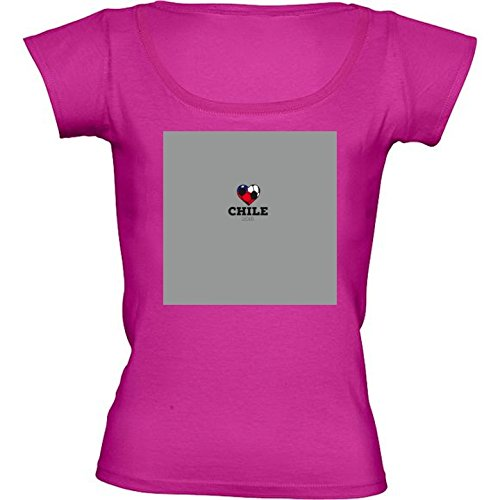 Camiseta Rosa Fuschia Con Cuello Redondo para Mujeres - Tamaño XL - Camisa Del Fútbol De