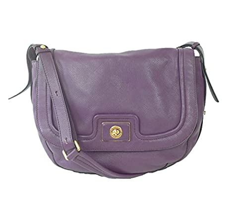 Marc by Marc Jacobs Totally Turnlock Leather Messenger Bag, Pansy Purple - Pansy Messenger