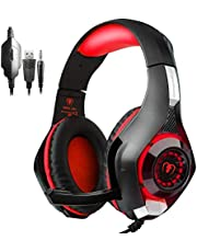 New Xbox One Headset MFEEL Gaming Headset with Mic for PC, PS4,Xbox one S Laptop Phone - Noise lsolating Volume Control LED Light