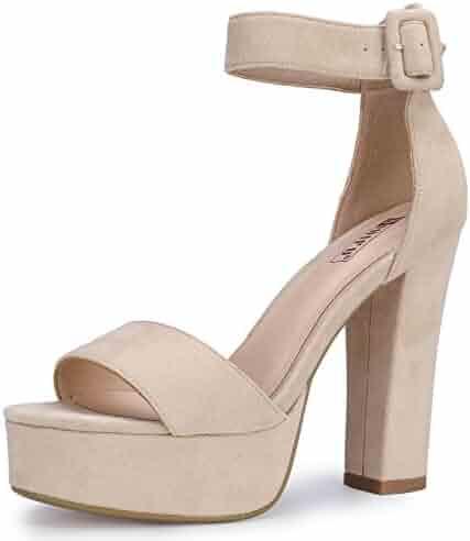 71ef2f8c637 IDIFU Women s IN5 Sabrina Ankle Strap Platform High Chunky Heels Party  Sandal