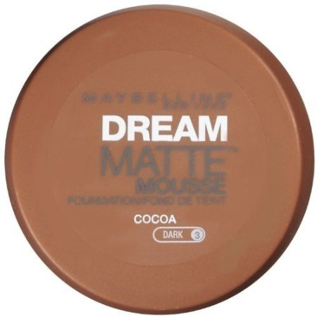 Maybelline Dream Matte Mousse Foundation, Cocoa, Dark [3], 0.64 oz (Pack of 2) ()