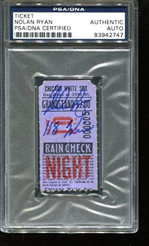 Nolan Ryan Autographed Signed Ticket 118Th Win 9Ip 18K 3H 9/10/76 Autographed Signed PSA/DNA Authentic 2747