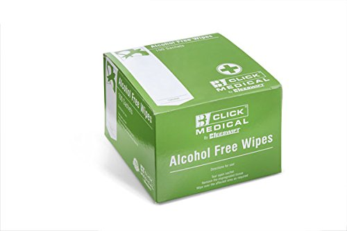 Click Medical Alcohol Free Wipes - Pack of 100 CM0800