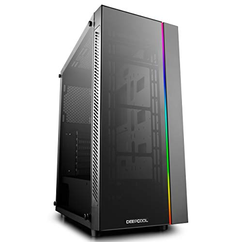 DEEPCOOL MATREXX 55 ADD-RGB Case, E-ATX Supported, Motherboard or Button Control of SYNC of Addressable RGB Devices of Any Brands, 4mm Full Sized Tempered Glass (Fan Gamer)