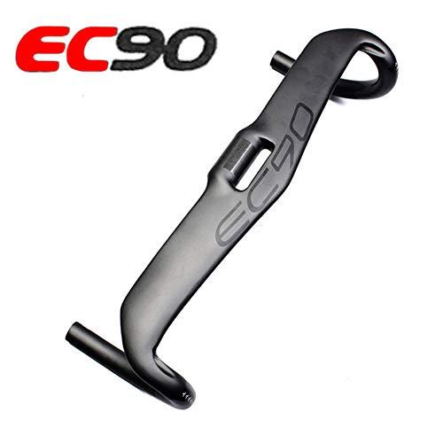 EC90 Carbon Fiber Aero Drop Handlebar Bike Bent Bar Carbon Road Bicycle Handlebar 31.8mm 400 420 440mm Matte Black Inner Cabling (31.8400mm) (Aero Drop Bar)