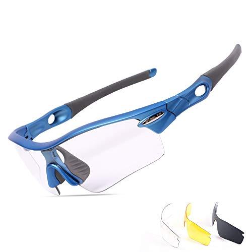 con Arena polarizadas y Mujer Azul azul Ciclismo de DAYANGE a 3 Lentes para Prueba de Gafas Hombre wIgqvt4x