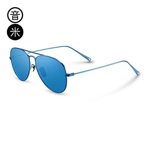 Al Decoración Sol Gafas Ligero Sol Viento Espejo Gafas Polarizadas Mujeres De Uv Regalo Red Hombres De LLZTYJ Ronda De Mujeres Gafas Espejo Cara De Libre Sol Gafas Rose Aire Cumpleaños blue Conducción HIwfEq