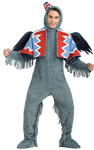 America Deluxe Wizard Dress - Rubie's Wizard Of Oz 75th Anniversary Edition, Deluxe Winged Monkey, Gray, X-Large Costume