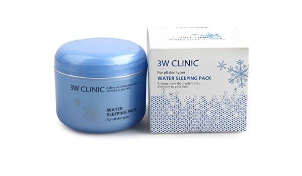 3W Clinic Water Sleeping Pack 100ml by 3W Clinic: Amazon.es: Belleza