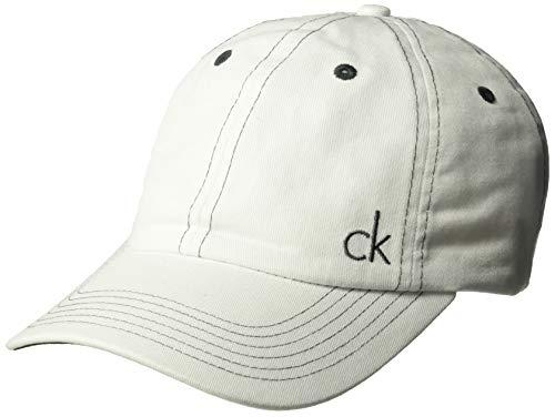 65ff6a6f1 Calvin Klein Golf Men's Vintage Twill Baseball Cap, White ONE SIZE