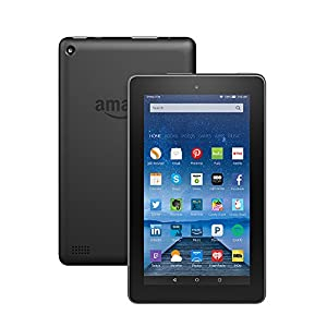"Fire Tablet with Alexa, 7"" Display, 8 GB, Black - with Special Offers (Previous Generation - 5th)"