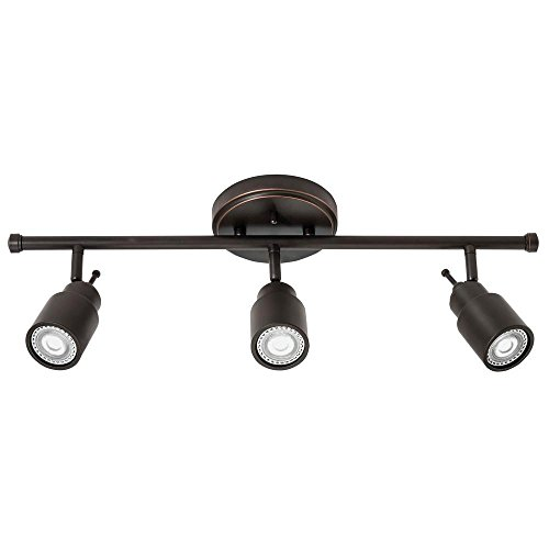Lithonia Lighting LTFSTCYL MR16GU10 LED 27K 3H ORB M4 3-Light Fixed-Track Lighting Kit, Oil Rubbed Bronze by Lithonia Lighting
