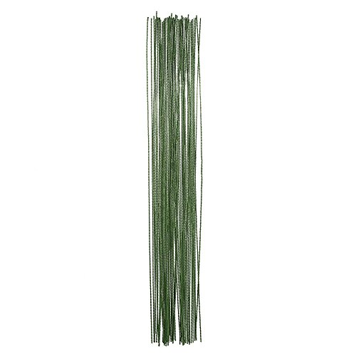 - eBoot Stem Wire Floral Wire 14 Inch 26 Gauge Wire, 100 Pieces (Dark Green)