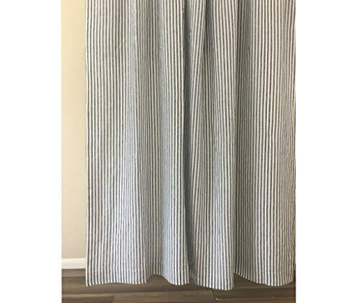 Slate Gray and White Striped Shower Curtain - Mildew-Free, 72x72, 72x85, 72x94. Bathroom Curtain, Bathroom Decor
