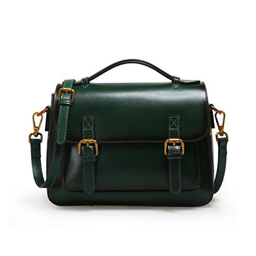 Sac à bandoulière en cuir pour femme, sac à bandoulière vert à la mode