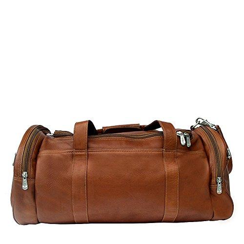 Piel Leather Gym Bag, Saddle, One Size by Piel Leather