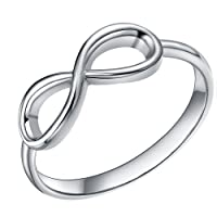 925 Sterling Silver Ring Infinity Knot Rings Enternity Wedding Band