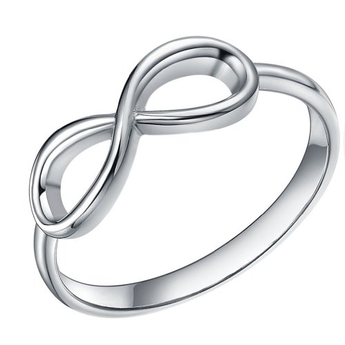 925 Sterling Silver Ring Forever Love Infinity Symbol Womens Wedding Engagement Band (6)