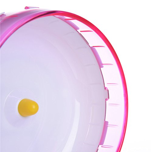 Petacc Hamster Exercise Wheel Hamster Toy Small Animal Wheel with Holder, 8'' Diameter (Pink) by Petacc (Image #4)