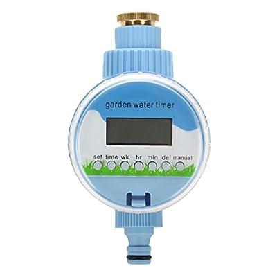 Yosooo Automatic Electronic Water Timer, Rain Sensor Digital Garden Watering Timer Irrigation Controller Watering Home Garden Irrigation Watering Control System