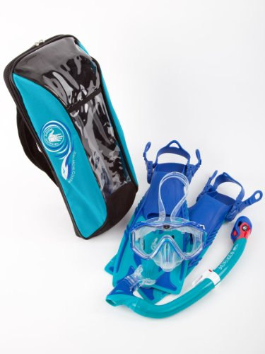 Body Glove Youth JMC Lucent Mask/Snorkel & Fin Set, Large/X-Large