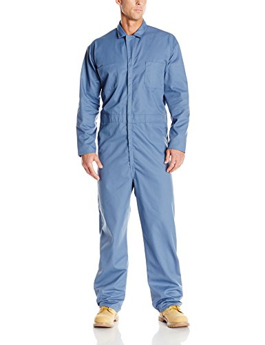 Red Kap Men's Long Sleeve Twill Action Back Coverall, Postman Blue, 36]()