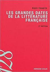 Les grandes dates de la littérature française